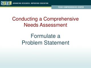Formulate a  Problem Statement