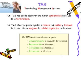 TMS Terminology Management System