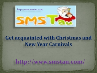 Get acquainted with Christmas and New Year Carnivals