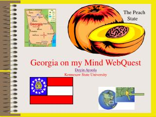 Georgia on my Mind WebQuest