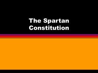 The Spartan Constitution