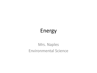 Energy and renewable and non renewable resources