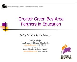 Greater Green Bay Area Partners in Education