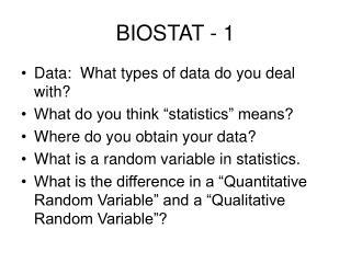 BIOSTAT - 1