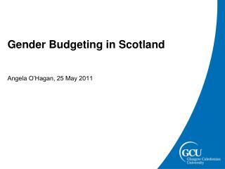 Gender Budgeting in Scotland