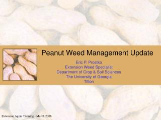 Peanut Weed Management Update