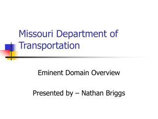 Missouri Department of Transportation