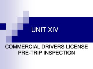 UNIT XIV