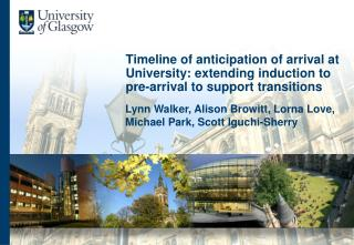 Timeline of anticipation of arrival at University: extending induction to pre-arrival to support transitions