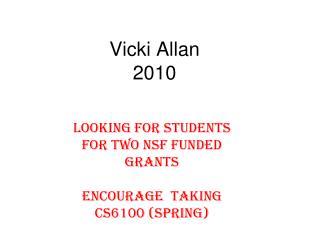 Vicki Allan 2010
