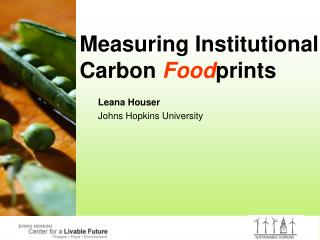 Measuring Institutional Carbon Foodprints