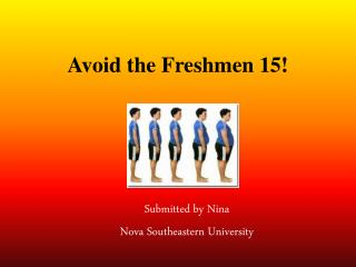 Avoid the Freshmen 15