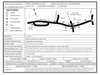 Traffic Engineering Survey City of Rancho Palos Verdes