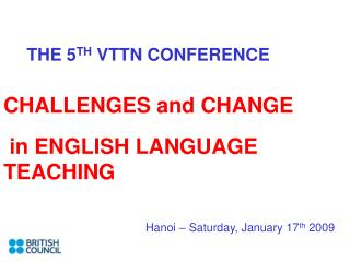 THE 5TH VTTN CONFERENCE