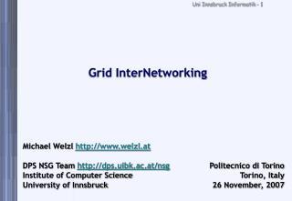 Grid InterNetworking