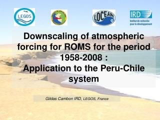 Downscaling of atmospheric forcing for ROMS for the period 1958-2008 : Application to the Peru-Chile system