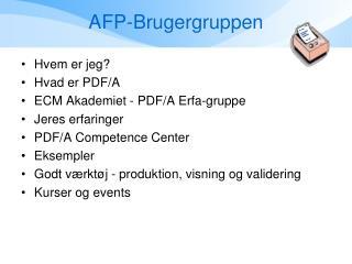 AFP-Brugergruppen
