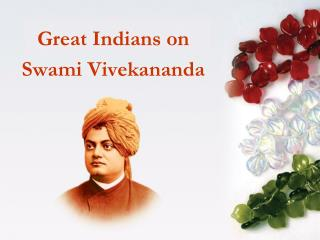 Great Indians on  Swami Vivekananda