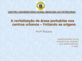 CENTRO UNIVERSIT RIO NOSSA SENHORA DO PATROC NIO