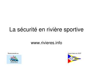 La s curit  en rivi re sportive