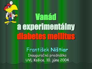 Van d  a experiment lny diabetes mellitus