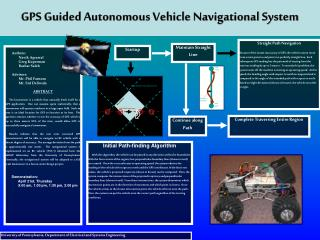GPS Guided Autonomous Vehicle Navigational System