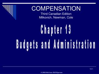 COMPENSATION Third Canadian Edition Milkovich, Newman, Cole