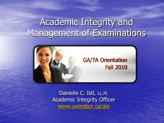Academic Integrity and Management of Examinations