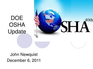 DOE OSHA Update