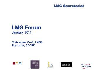 LMG Forum January 2011