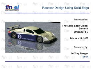 Racecar Design Using Solid Edge