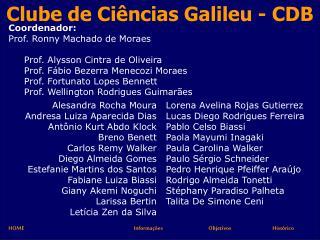 Clube de Ci ncias Galileu - CDB