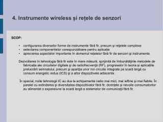 4. Instrumente wireless i reele de senzori