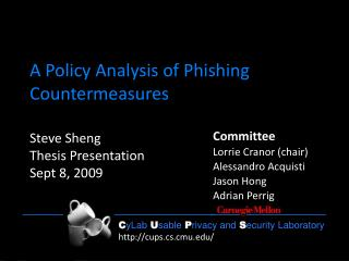 A Policy Analysis of Phishing Countermeasures