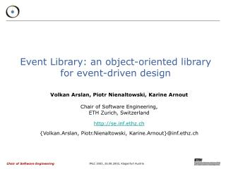 Event Library: an object-oriented library  for event-driven design