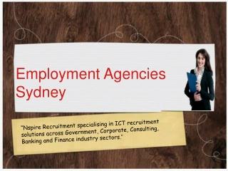 Employment Agencies in Sydney