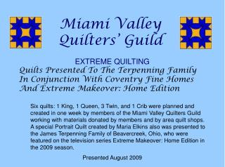 Miami Valley  Quilters  Guild
