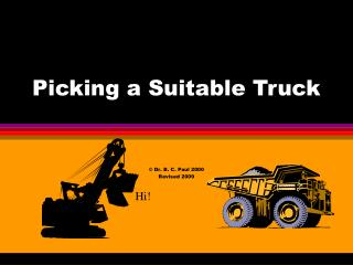 Picking a Suitable Truck