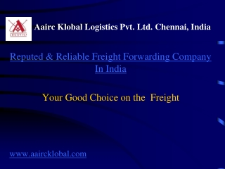 Freight,Freight Forwarding,Customs Clearing -Aairc Klobal