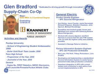 Glen Bradford    Supply-Chain Co-Op