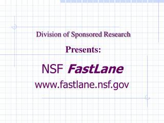 NSF FastLane  fastlane.nsf
