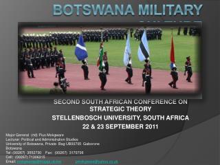 Botswana military culture