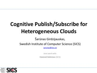 Cognitive Publish