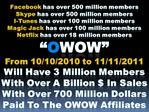 Facebook has over 500 million members Skype has over 500 million members I-Tunes has over 100 million members Magic Jack