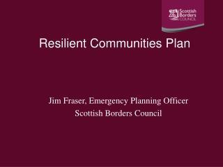 Resilient Communities Plan