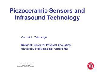 Piezoceramic Sensors and Infrasound Technology