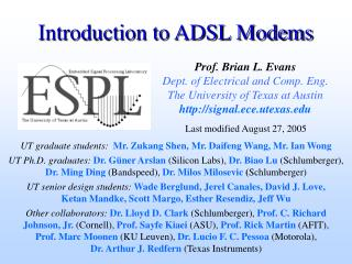 Introduction to ADSL Modems
