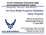 Steven E. Rademacher, Major, USAF, BSC Lt Bruce Murren, 1Lt, USAF, BSC Radiation Surveillance Division