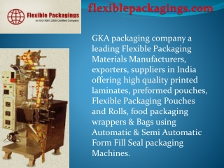 Flexible Packaging exporter