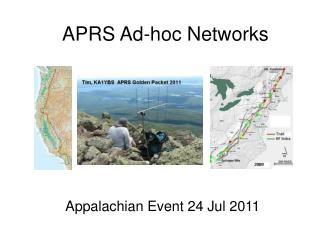 APRS Ad-hoc Networks